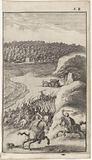 Warring soldiers on horseback