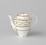 Teapot with stylized flower sprays and ornamental borders