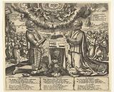 William of Orange and Charlotte of Bourbon kneeling in landscape