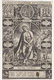 Christ as the Man of Sorrows amid scenes of passion