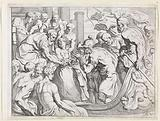 Odysseus receives the bag of headwinds from Aeolus