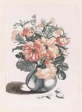 Five Prints of Flowers in Glass Vases