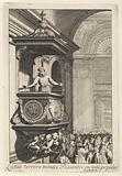 Preacher with beard on pulpit