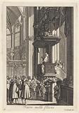 Preacher in pulpit on the right