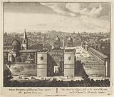 View of the Porta del Popolo, in Rome