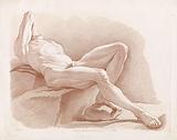 Lying male nude