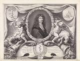 Allegorical representation with portrait of Jean-Baptiste Colbert