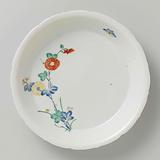 Scalloped dish with chrysanthemum and butterfly