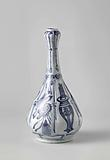 Pear-shaped bottle with auspicious symbols and pendants in panels