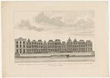 View of the houses on the Rapenburg in Leiden, from the Newesteg to the Langebrug, prior to the Leiden disaster, 1807