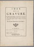 Text sheets for 'Idée de la Gravure'