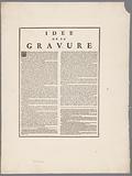 Publisher's prospectus 'Idée de la Gravure', prints by M de Marcenay de Ghuy