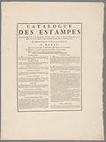 Publisher's prospectus 'Catalog des Estampes', prints by M de Marcenay de Ghuy