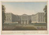 The Palace of the States General in Brussels in 1815. Under the lo: Dessiné par C janssens. Under the ro..