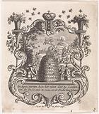Vignette with figures at a beehive