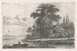 River landscape with beacon