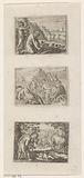 Bacchus punishes a man who destroys a vineyard / Bacchus saves Ariadne from the island of Naxos / Bacchus and the …