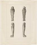 Different views of an Egyptian statue