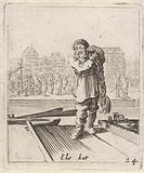 Man on a wharf