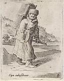 Man with a basket on the back