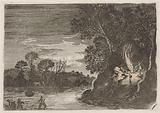 Figures around a campfire