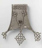 Chest lock with decorated lock plate