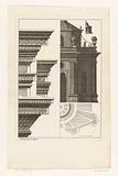 Details of cornice and half trellis pavilion