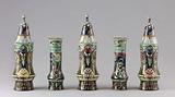Garniture of five vases
