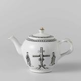 Ovoid teapot with a crucifixion scene