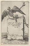 Winged skeleton with hourglass on a headstone