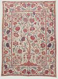 Palempore of chintz with pattern of flowering tree