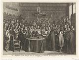 The swearing in of the Treaty of Munster, 1648