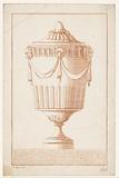 Vase with drapery
