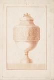 Vase with acorn