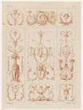 Nine panels with arabesques