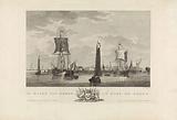 View of the harbor of Hoorn