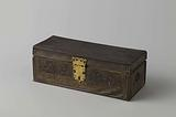 Jewelry box, covered with leather with stamped decorations