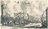 French troops marauding and shooting through the ruins of the village of Nigtevecht, 1672