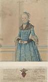 Portrait of Maria van IJsseldijk, standing knee-length portrait