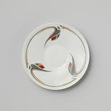 Saucer with stylized floral motifs