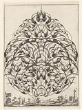 Goldsmith bouquet in the form of a pointed oval