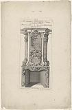 Design for a chimney with Mercury, Argus and Io