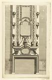 Mantelpiece with three mirrors