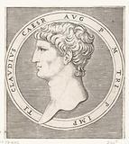 Portrait of Emperor Claudius I in a round frame