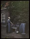 Woman at water pump