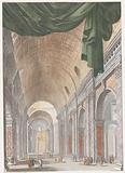 Interior of St Peter's Basilica in Rome