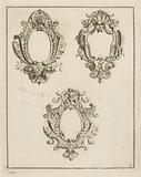 Three oval cartouches