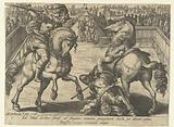 Giovanni de 'Medici defeats his opponent in a cavalry fight