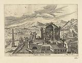 View of Palestrina and the temple of Fortuna