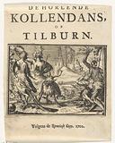 Title page for the pamphlet: De Horlende Kollendans, op Tilburn, 1702.